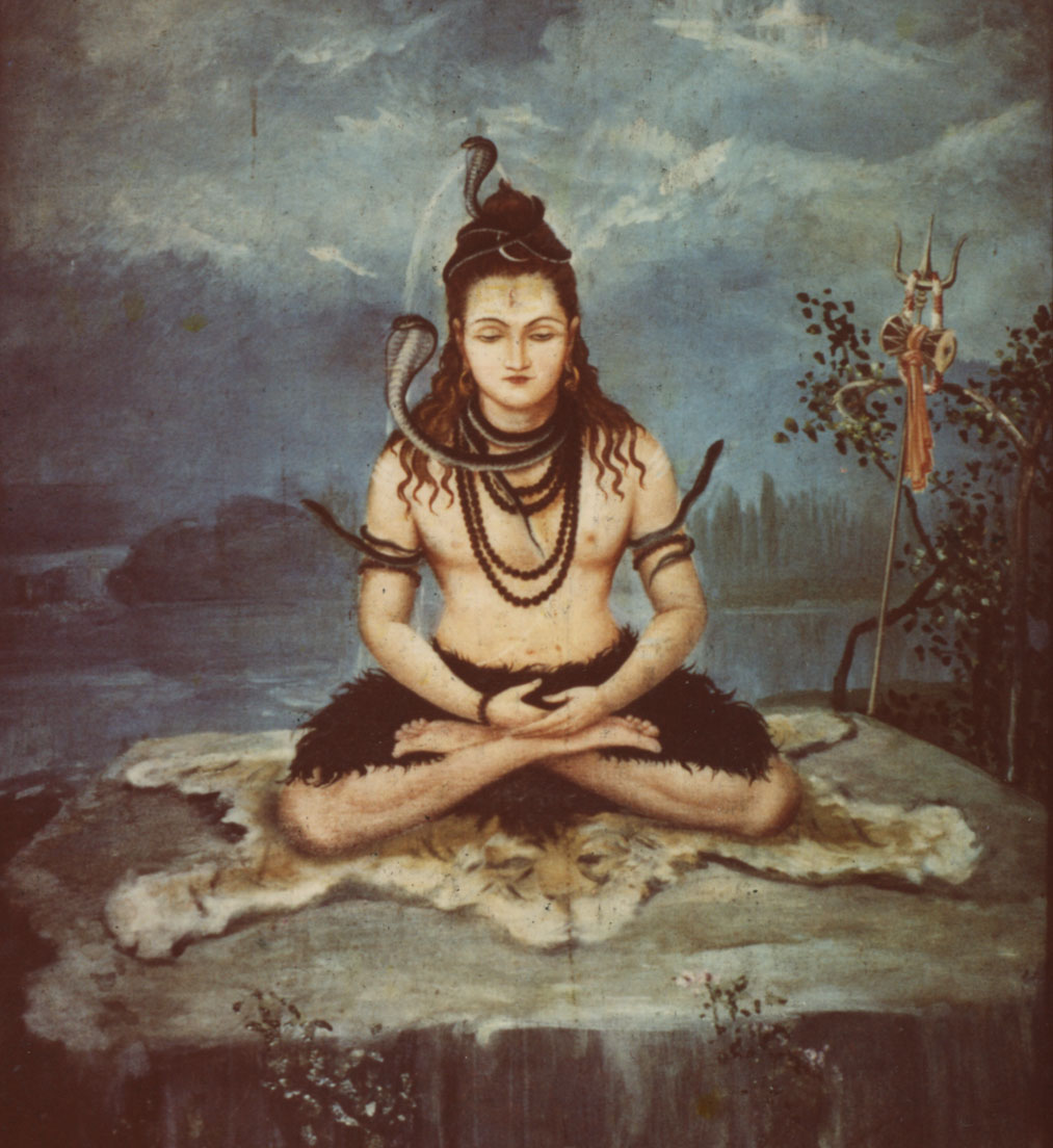 Painting of Lord Shiva on Meditating on his Deer Skin